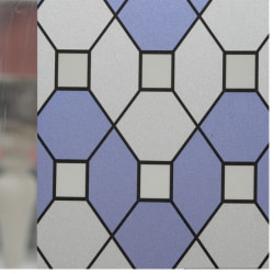 Lila mosaik insynsskydd Statisk fönsterfilm 3 meter
