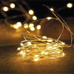 2 st Ljusslinga Fairy Lights varmvit led 1m
