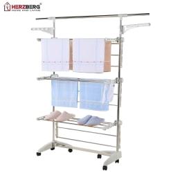 Herzberg HG-5015; Rörande klädhängare Vit