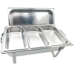 Herzberg HG-8022-3: Professional Chafing Dish - 3 Pieces 1 / 3rd