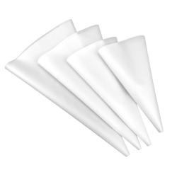 4 pack spritspåsar i silikon vit