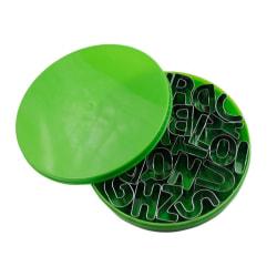 Utstickare bokstäver A-Z grön