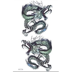 1st Temporär tattoo  Dragon