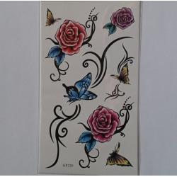 2st Temporär tattoo blommar och fjärilar
