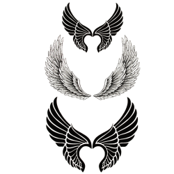 2st Temporär tattoo fjäder