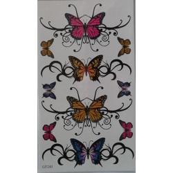 2st Temporär tattoo fjärilar