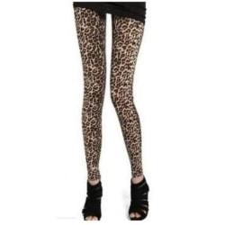 Leggings Brun Leopard En storlek (S) (M)