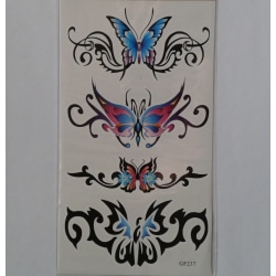 Temporär tattoo fjärilar