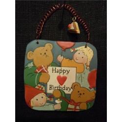 Gnomys diaries  Budskapstavla  Happy Birthday  (WL0407)