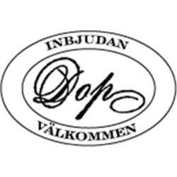 STÄMPEL FRÅN INKIDO.  INBJUDAN DOP.  ``NYTT´´ (S40)