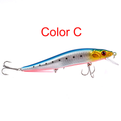 14cm 1/6/12PCS Fishing Lures Fish Baits Swimbait Fish Hooks C 1PC