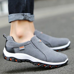 43# Single Product - MEN-Casual Shoes-Canvas&Breathable&Slip On Gray,43