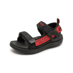 Boys' soft-soled sandals with velcro open-toe flats red,38