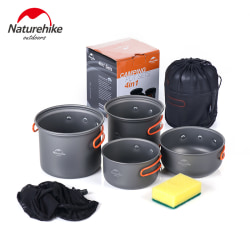 Camping Cookware Ultralight Mess Kit Backpacking Camping Pots grey,Hook