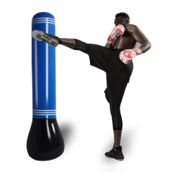 Child 160cm Inflatable Punching Bag Free Standing Boxing Post Dark Blue,160cm