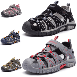 Barn pojkar och flickor casual skor slitstarka sandaler Gray Pink,21