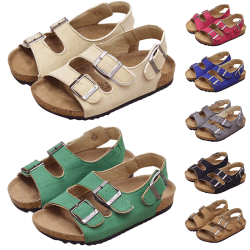 Children boys and girls casual shoes soft sole sandals Green,22