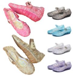 Barn pojkar och flickor ihåliga sandaler casual skor White,24