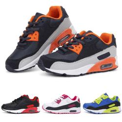 Barns pojkar och flickor luftkudde sneakers casual skor White Pink,25