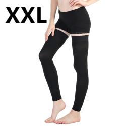 Compression Leg Sleeve Knee Sock High Support Stocking Unisex Black,2XL