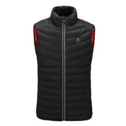 Electric Vest USB Heated Cloth Jacket Winter Windproof Body Black,XL