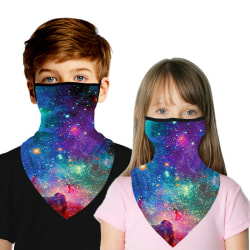 Kids Neck Gaiter Bandana Scarf Masks Neck Cover Tube Anti-UV Sky Starry 5