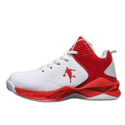 Kids Teens High Top Fashion Sneakers Athletic  Basketball Shoes red,36