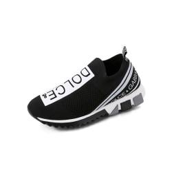Ladies comfortable lightweight sneakers flat tennis shoes black,38