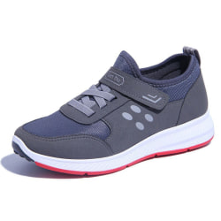 Ladies nonslip breathable velcro light sports shoes Gray,37