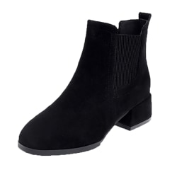 Ladies stretch ankle boots high heels Chelsea boots casual shoes Black,41