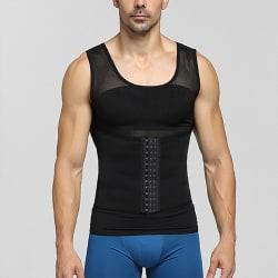 Men Body Shaper Slimming Vest Tank Top Compression Shirt Black,XL