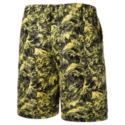 Men casual swimming shorts multi pocket beach sports shorts Yellow,3XL