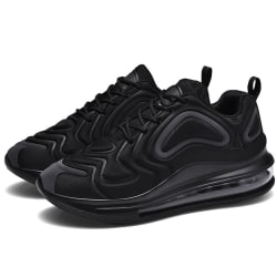 Men's Air Cushion Sneakers Athletic Running Lace Up Sports Shoes Black,43