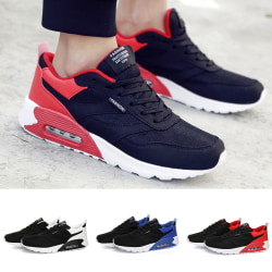Men's breathable sports running shoes fitness light sports shoes Black,39