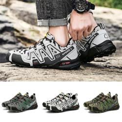 Men's Fashion Casual Shoes Outdoor Sports Shoes Hiking Shoes Light Gray,39