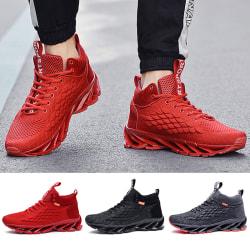 Men's Fashion Running Tennis Shoes Air Cushion Sneakers Röd,43