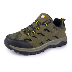 Men's Hiking Mountain Outdoor Trail Trekking Breathable Sneakers Army Green,48