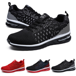 Men's outdoor casual shoes sports shoes breathable running shoes Black,39