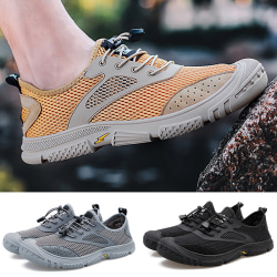 Men's outdoor hiking shoes breathable casual shoes sports shoes Black,43
