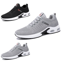 Men's running tennis shoes breathable training sneakers Black,44