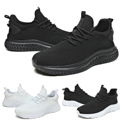 Men's slip-on casual shoes running shoes sports shoes Black,39