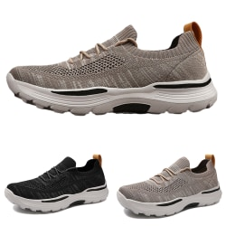 Men's solid color casual shoes sports shoes running shoes Black,39