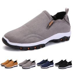 Men's solid color running shoes sports shoes casual shoes Black,39