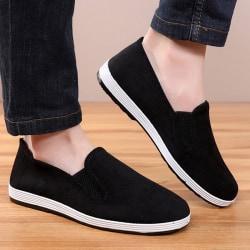 Single Product-MEN-Canvas Shoes-Round Toe&Corduroy&Breathable Black,40