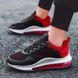 Single Product-Men-Sneakers&Trainers-Breathable&Lace Up&Athletic Black Red,43