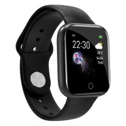 Smart Watch-pulsmätarblodmonitor Black,Silicone