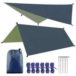 Tent Tarp Sun Shade Rain Shelter Beach Camping Picnic Canopy Black