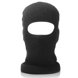 Unisex Tactical Balaclava Hat Full Hood Beanie Cap Stickad Black