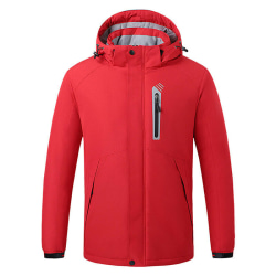 USB Electric Heated Jacket Coat Winter Warmer Outwear Waterproof Red,XL