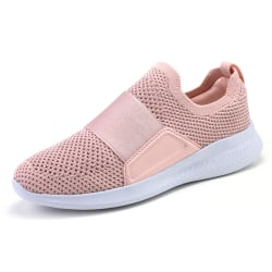 Women Breathable Walking Athletic Sneaker Jogging Trainers Shoes Pink,41